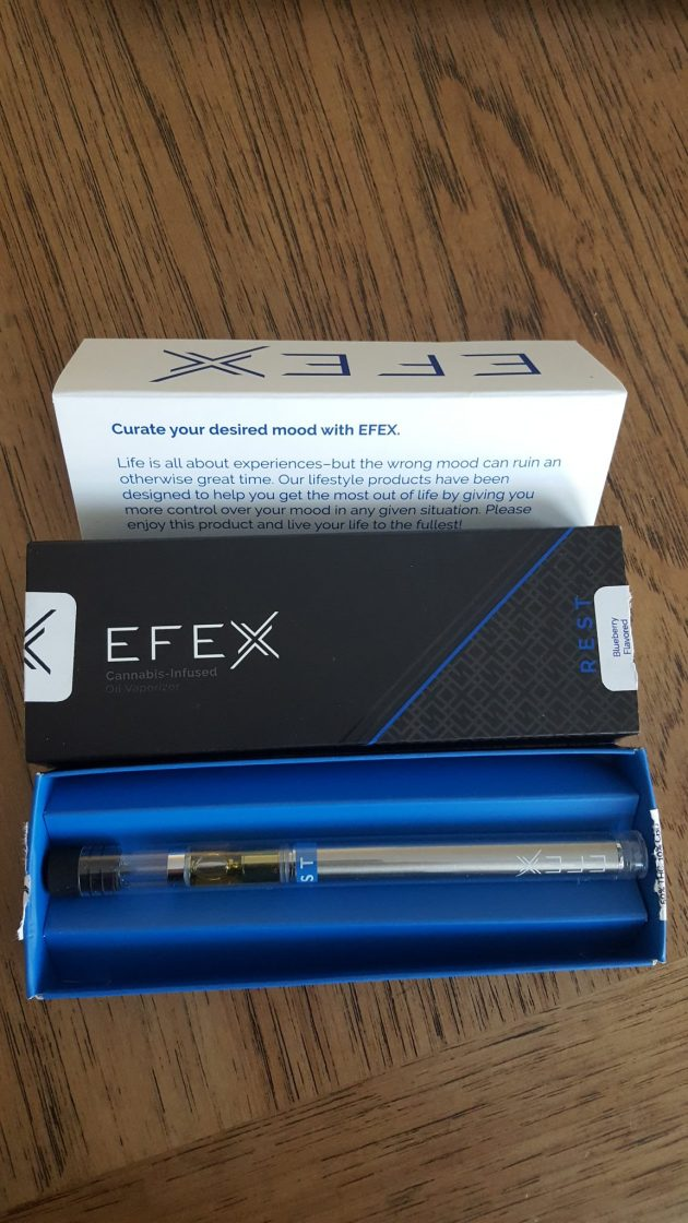 efex blueberry vape display