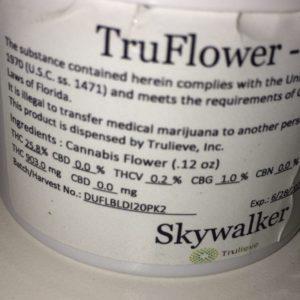 skywalker og truflower jar strain review by indicadam