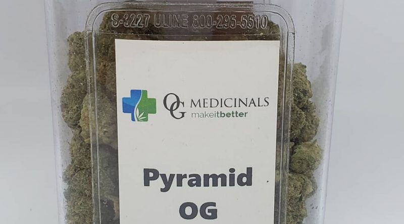 pyramid og flower jar by og medicinals strain review by cannaquestions
