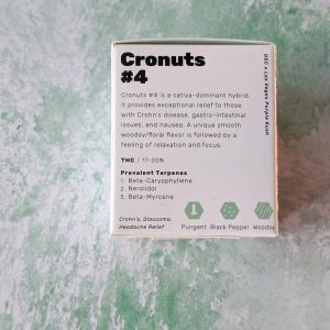 cronuts #4 by pts pure flower strain review by upinsmokesession
