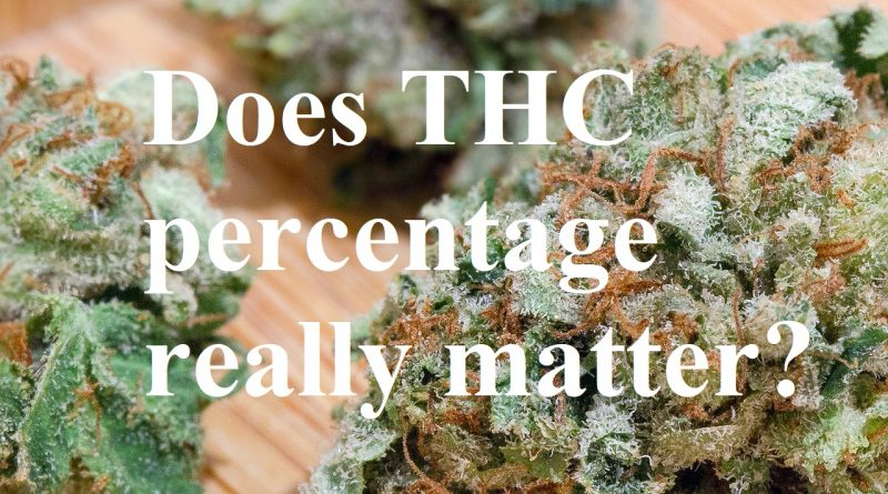 does thc percentage really matter