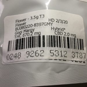 goji margy by muv florida thc percentage strain review by indicadam