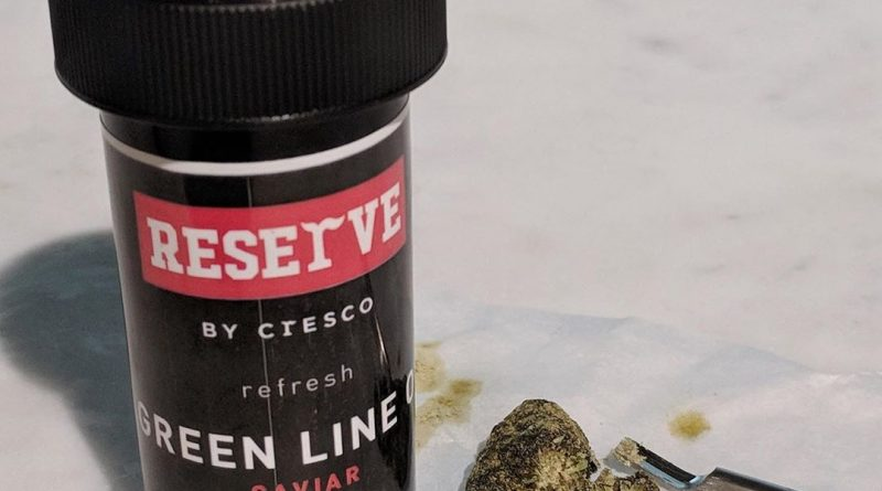 green line og caviar by reserve by cresco strain review by upinsmokesession