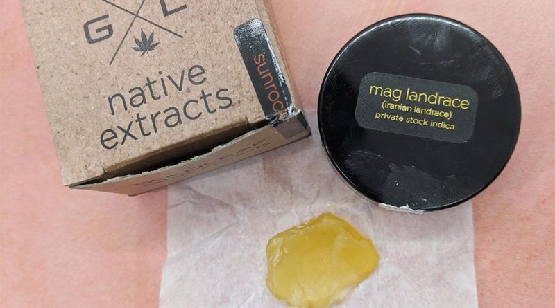 mag landrace shatter by goldleaf native extracts concentrate review by upinsmokesession