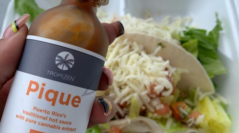 pique cannabis infused hot sauce by tropizen edible review by trippietropical
