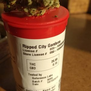 quad dawg by ripped city gardens thc percentage label strain review by pdxstoneman