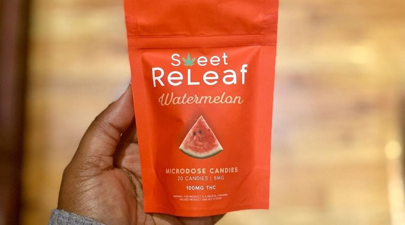 watermelon microdose candies by pts sweet releaf edible review by upinsmokesession
