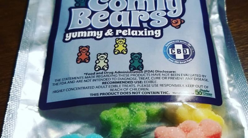 cbd comfy bears by 50 shades of green edible review by sticky_haze420