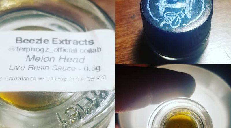 melon head live resin sauce by beezle extracts concentrate review by sticky_haze420