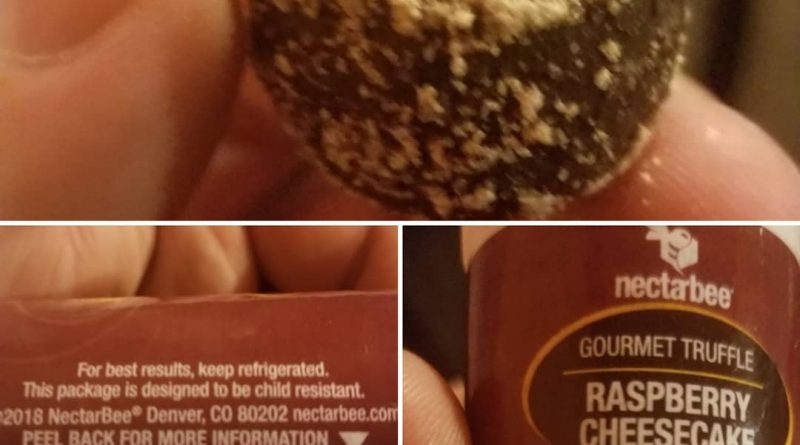 nectarbee raspeberry cheesecake truffle edible review by sticky_haze420