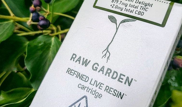 afternoon delight live resin cartridge by raw garden vape review by herbtwist