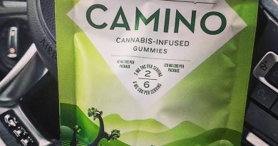 camino sparkling pear gummies by kiva confections edible review by herbtwist