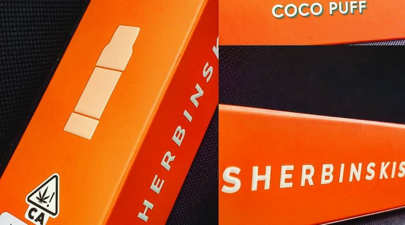 coco puff cartridge by SHERBINSKIS vape review by herbtwist