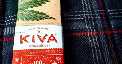 peppermint bark chocolate by kiva edible review by herbtwist