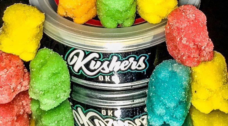 sour gummy bears by kushers okc edible review by okcannacritic