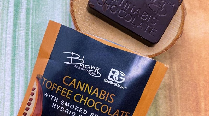 toffee chocolate by bhang edible review by upinsmokesession