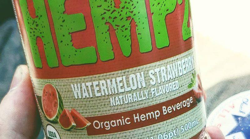 watermelon strawberry organic hemp beverage by hemp2o drinkables review by herbtwist