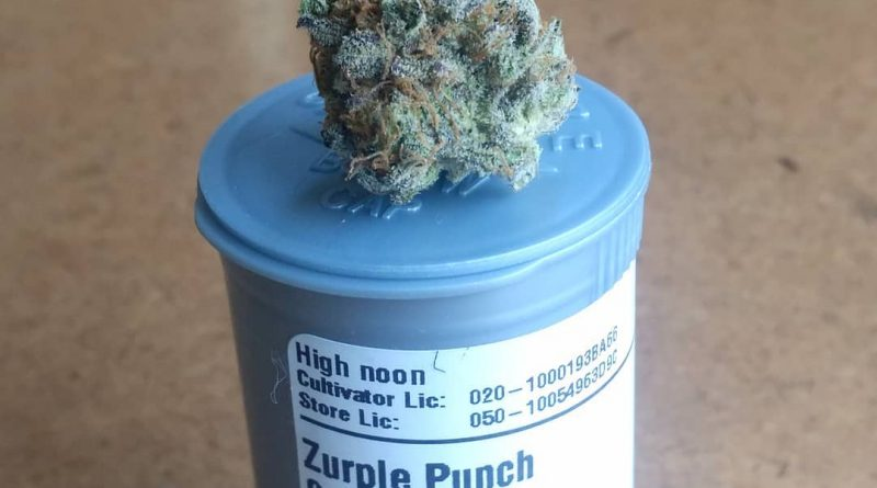 zurple punch by high noon cultivation strain review by pdxstoneman