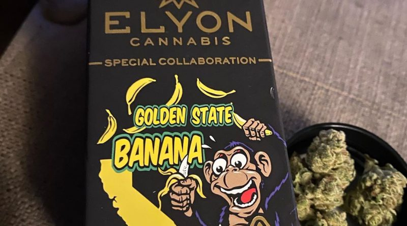 golden state banana by elyon cannabis strain review by trunorcal420