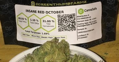 insane red october by greenthumb farmz strain review by trunorcal420