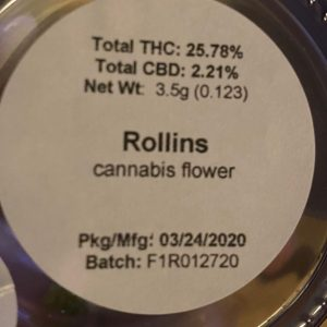 rollins by lost coast exotics strain review by trunorcal420 3