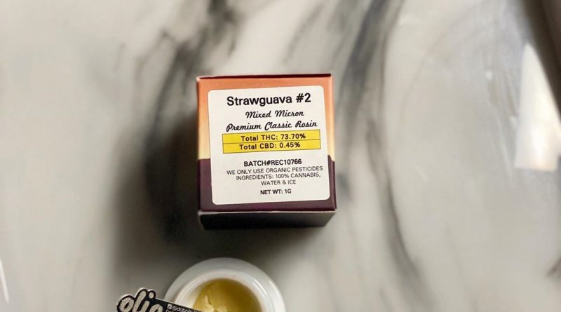 strawguava #2 rosin by olio concentrate review by upinsmokesession