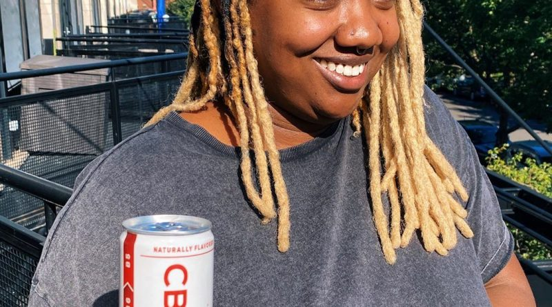 apple ginger sparkling water by cbd living drinkable review by upinsmokesession