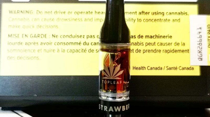 strawberry cream cartridge by top leaf vape review by cannasteph