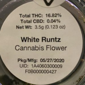 white runtz by lost coast exotics strain review by trunorcal420 2