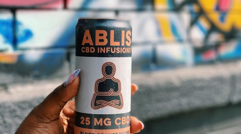 blood orange sparkling water by ablis cbd drinkable review by upinsmokesession