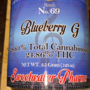 blueberry g by sweetwater pharms strain review by trunorcal420
