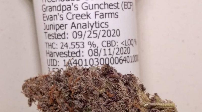 grandpa's gun chest by evan's creek farms strain review by pdxstoneman