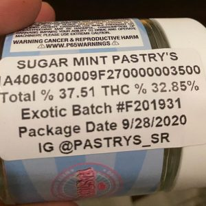 sugar mint pastry's by pastry's strain review by trunorcal420