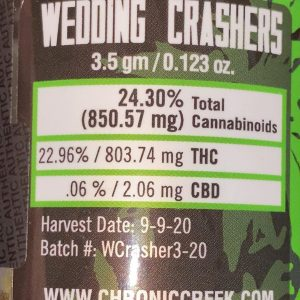 wedding crashers by chronic creek strain review by trunorcal420 2