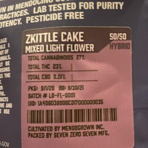 zkittle cake by mendo inc. strain review by trunorcal420 2