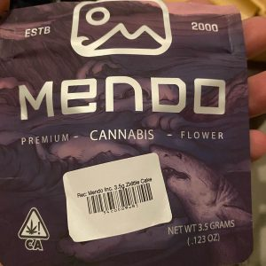 zkittle cake by mendo inc. strain review by trunorcal420