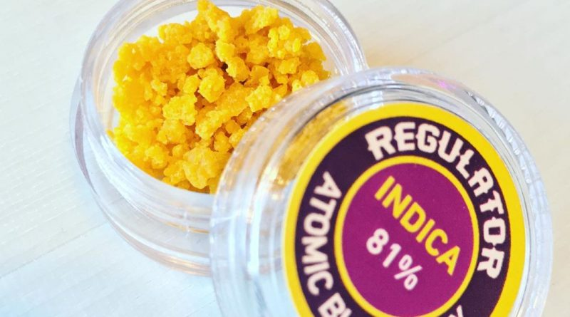atomic blueberry crumble by regulator xtracts concentrate review by 502strainsheet