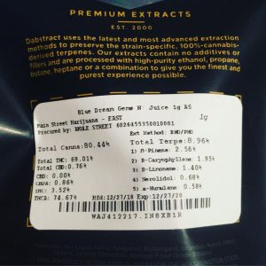blue dream terp sauce by dabstract concentrate review by 502strainsheet 3