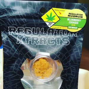 blueberry cookies sugar wax by regulator xtracts concentrate review by 502strainsheet 2