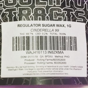 cinderella 99 sugar wax by regulator xtracts concentrate review by 502strainsheet 2