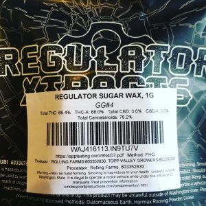 gg#4 sugar wax by regulator xtracts concentrate review by 502strainsheet 2
