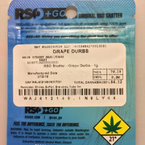 grape durbs rso shatter by rso+go concentrate review by 502strainsheet 2