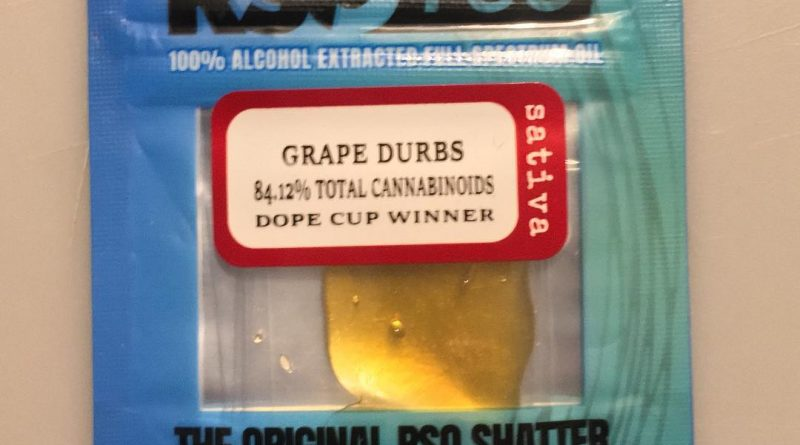 grape durbs rso shatter by rso+go concentrate review by 502strainsheet