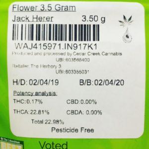 jack herer by cedar creek cannabis strain review by 502strainsheet 3