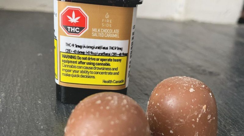 milk chocolate salted caramel by fireside cannabis edible review by brandiisbaked
