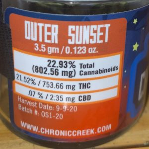 outer sunset by chronic creek strain review by trunorcal420 2
