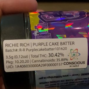 purple cake batter by richie rich strain review by trunorcal420 2