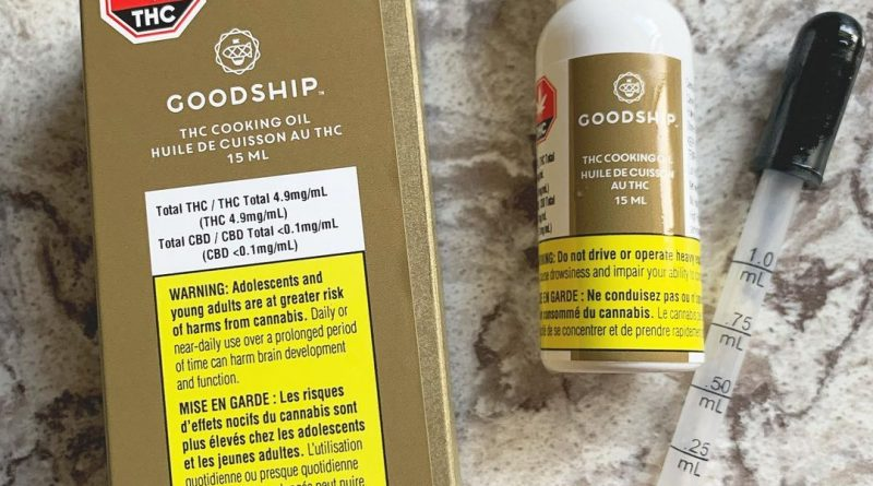 thc cooking oil by goodship edible review by brandiisbaked
