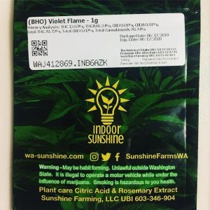 violet flame shatter by indoor sunshine concentrate review by 502strainsheet 3