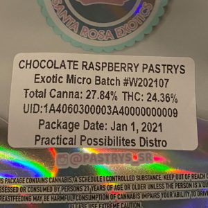 chocolate raspberry pastry's by pastry's strain review by trunorcal420 2